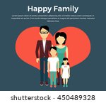 Happy Family Concept Banner...