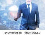 double expoure of professional... | Shutterstock . vector #450490663