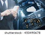 double exposure of professional ... | Shutterstock . vector #450490678