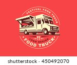 Round Logo Of Food Truck  The...