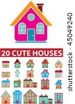 20 cute houses. vector | Shutterstock .eps vector #45049240