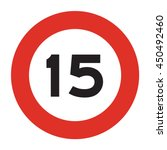 speed limit road sign. speed... | Shutterstock .eps vector #450492460