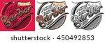 barber shop logo | Shutterstock .eps vector #450492853