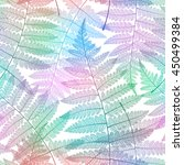 seamless pattern with fern... | Shutterstock .eps vector #450499384