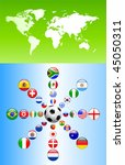 soccer poster with flag buttons ... | Shutterstock .eps vector #45050311