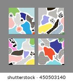 collection of trendy creative... | Shutterstock .eps vector #450503140
