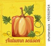 fall season  autumn orange... | Shutterstock .eps vector #450503914
