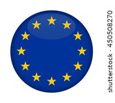 blank euro flag button isolated ... | Shutterstock . vector #450508270