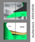 green brochure template  | Shutterstock .eps vector #450510058