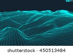 abstract vector wireframe... | Shutterstock .eps vector #450513484