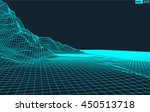 abstract vector wireframe... | Shutterstock .eps vector #450513718