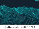 abstract vector wireframe... | Shutterstock .eps vector #450513724