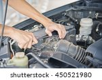 check the condition of the car... | Shutterstock . vector #450521980
