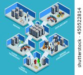 datacenter isometric concept... | Shutterstock .eps vector #450522814