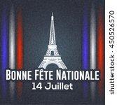 france bastille day greeting... | Shutterstock .eps vector #450526570