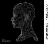 design of 3d wireframe head .... | Shutterstock .eps vector #450526870