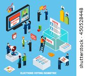 elections and voting isometric... | Shutterstock .eps vector #450528448