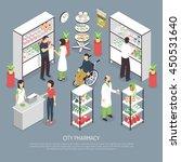 city pharmacy interior... | Shutterstock .eps vector #450531640