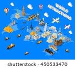 world famous touristic... | Shutterstock .eps vector #450533470