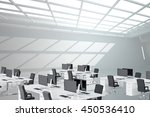 empty office with desk and... | Shutterstock . vector #450536410