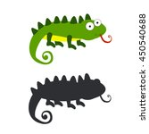 iguana vector  iguana silhouette | Shutterstock .eps vector #450540688