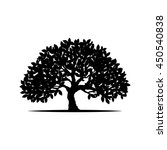 tree silhouette isolated on... | Shutterstock .eps vector #450540838