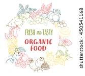 illustration fresh organic... | Shutterstock . vector #450541168