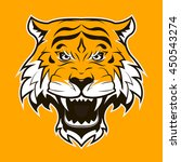 angry tiger face. roaring tiger ... | Shutterstock .eps vector #450543274