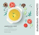 vector illustration plate of...   Shutterstock .eps vector #450546553