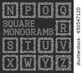 vintage monograms set. letters... | Shutterstock .eps vector #450547120