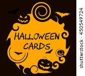 halloween cards showing trick... | Shutterstock . vector #450549724