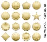 vector blank gold labels set.... | Shutterstock .eps vector #450550210