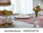 beautiful served table for... | Shutterstock . vector #450553576