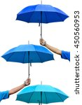 Hand Holding Umbrella To...