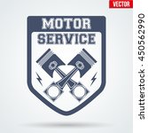 vintage motor service signs and ... | Shutterstock .eps vector #450562990