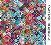 seamless pattern. vintage... | Shutterstock .eps vector #450563938