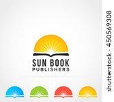 sun book logo icon   Shutterstock .eps vector #450569308