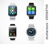 set of realistic smart watch... | Shutterstock .eps vector #450569743