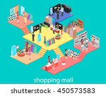 isometric interior of shopping... | Shutterstock .eps vector #450573583