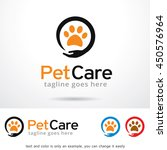 pet care logo template design... | Shutterstock .eps vector #450576964