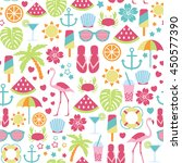 seamless pattern with summer... | Shutterstock .eps vector #450577390