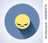 annoyed emoticon. angry smile.... | Shutterstock .eps vector #450583576