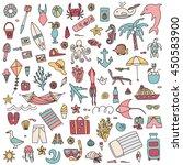 vacation doodles set | Shutterstock .eps vector #450583900