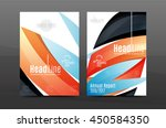 blue wave annual report cover... | Shutterstock .eps vector #450584350