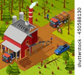 lumberjack isometric... | Shutterstock .eps vector #450588130