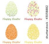 happy easter   Shutterstock .eps vector #45058882