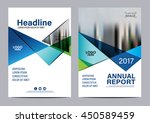 blue brochure layout design... | Shutterstock .eps vector #450589459