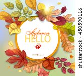autumn background. vector eps... | Shutterstock .eps vector #450590116