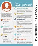 infographic template with icons ... | Shutterstock .eps vector #450593080