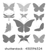 silhouettes of beautiful... | Shutterstock .eps vector #450596524